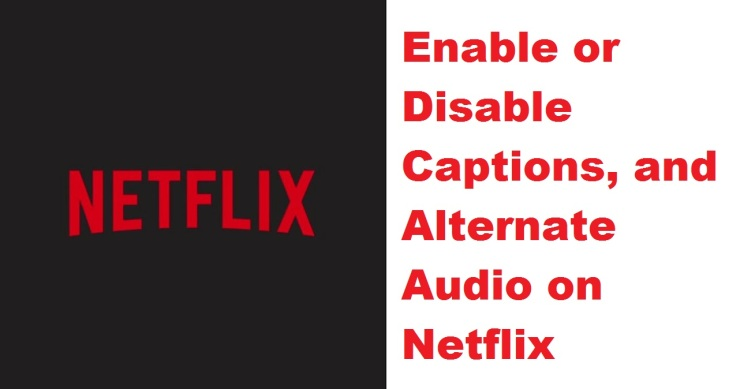 How to Enable or Disable Captions, and Alternate Audio on Netflix