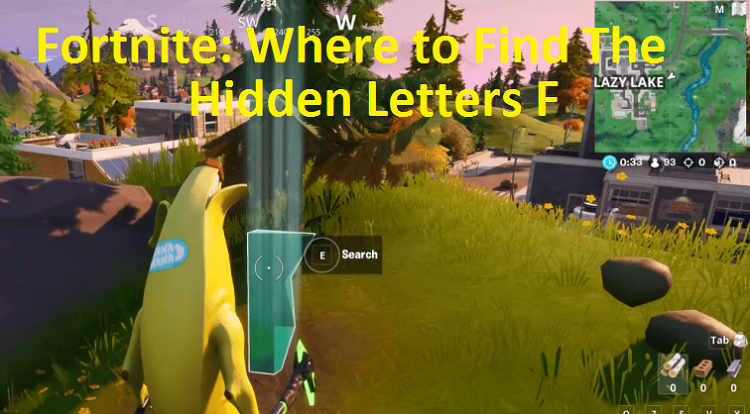 Fortnite Where to Find The Hidden Letters F