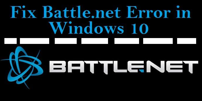 Battle.net Error in Windows 10